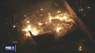 Fire still burning after fireworks explosion kills 2 in Ontario