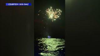 Group of boaters travel to Cuba, set off fireworks in showing of solidarity