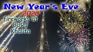 BURJ KHALIFA DUBAI UAE spectacular New Year's Eve 2020 Fireworks show INCREDIBLE PYROTECHNICS