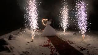 Свадебная пиротехника Фонтаны Сердце в Барнауле тел. 8-903-947-88-73