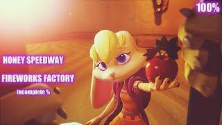 Spyro Year of The Dragon: Honey Speedway 100%/Fireworks Factory Incomplete%