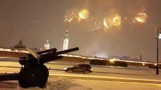 Фейерверк 23 февраля 2021. Санкт-Петербург