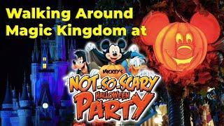 Walking Around Magic Kingdom at Mickey's Not-So-Scary Halloween Party Night