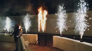 Огненные инициалы и пиротехнические фонтаны на свадьбу.