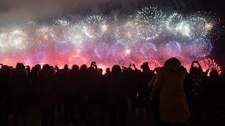 Фейерверки в морозном небе: как в городах России отметили День защитника Отечества