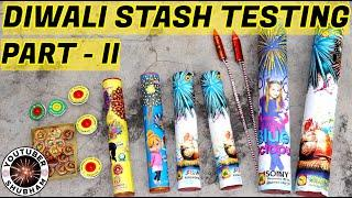 DIWALI CRACKERS STASH TESTING 2020 - 10 Different Types of Fireworks Testing Part 2