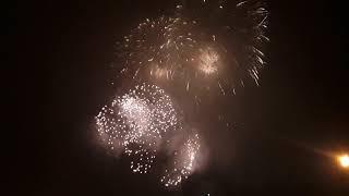 Салют/Фейерверк на Поклонной горе, в честь освобождения Каунаса 1 августа 2019 в Москве Полное видео