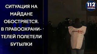 Полетели петарды и дымовые шашки. Протест ФОПов на Майдане продолжается