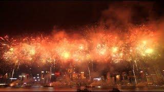 National Day Fireworks Light up Hong Kong