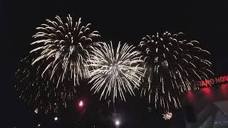 New year    ANO NOVO   2019, full fireworks!! LISBON, PORTUGAL