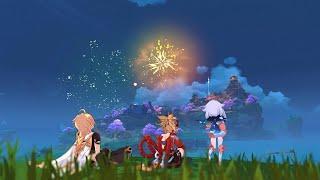 Fireworks Scene - Yoimiya Story Quest   Genshin Impact