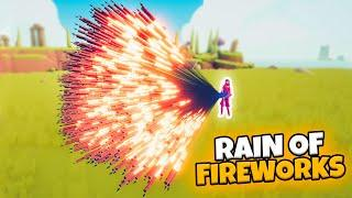RAIN OF FIREWORKS. SUPER FIREWORK ARCHER VS EVERY FACTION (CUSTOM) | TABS MODDED GAMEPLAY