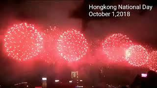 Hongkong National Day|Harbour Fireworks Display|October 1,2018