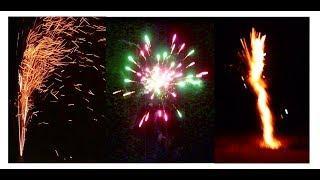 Новогодний 2019 САЛЮТ, огненный ФОНТАН. В конце ОЧЕНЬ КРАСИВО !!!!
