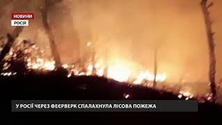 У Росії через феєрверки спалахнула лісова пожежа