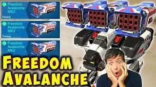 NEW FREEDOM AVALANCHE Fury Mk2 - USA Fireworks - War Robots Gameplay WR