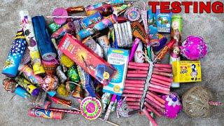 Different types of fireworks testing, Crackers testing 2021, Diwali Crackers Stash testing 2021