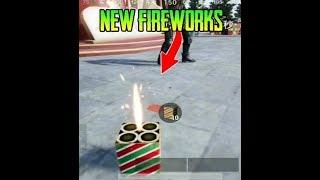 HOW TO USE NEW OBJECT IN PUB G MOBILE (FIREWORKS)