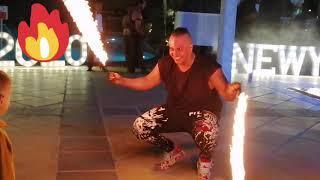 Best Dance with Fireworks Show 2020 january at Movenpick Hotel JBR Dubai.