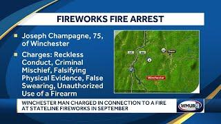 Man charged in connection to fire at fireworks store
