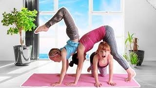 Doing Yoga Pose Challenge with my Mom!