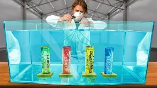 Что, если разноцветные дымовухи активировать под водой?