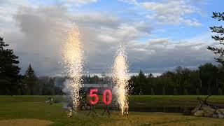 Шоу на юбилей|Горящие цифры| холодные фонтаны и вспышки 8 метров