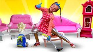 Игры для девочек - Детская песня про Весёлую уборку! – Видео с игрушками для детей.