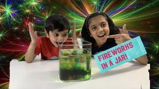 Easy kids science experiment - Fireworks in a Jar - NS Robot Kidz