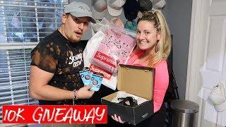 10K SUBSCRIBERS CELEBRATION!! SUPREME AND ADIDAS GIVEAWAY! (fireworks and explosions)