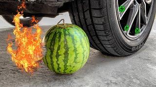 Car vs Watermelon and Fireworks - Experiment All vs Car
