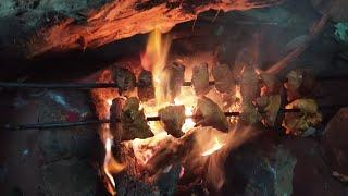 Chicken Tikka on fire wood/కట్టెల  పొయ్య  మీద  చేసిన  chicken  tikka taste ఎలా  ఉంది????