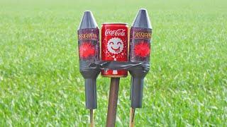 Cola Explosion Experiment - Fireworks & Cola