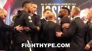 (FIREWORKS!) ANTHONY JOSHUA & JARRELL MILLER FULL EXPLOSIVE FIRST ENCOUNTER; HEATED FACE OFF