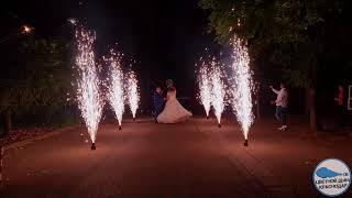 Пиротехническое шоу на  свадьбе  06 июля 2019 года в городе Краснодар.