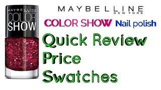 Maybelline color show party girl nail polish swatch Fireworks  | Review | swatches | Mixed bag