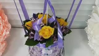 Аэростат с цветами