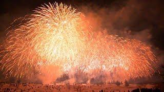 越後妻有 雪花火 2019 Japan Fireworks Wide Display with 36&24 Inch Shells.Tokamachi City Niigata Pref.