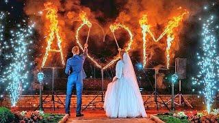 Свадебная пиротехническая дорожка из холодных фонтанов