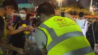 Drive-By Fireworks Shot At Hong Kong Protesters Outside Police Station