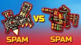 SPAM [vs] SPAM | BEDIVERE [vs] OFFENSIVE FIREWORKS -Pixel Gun 3D