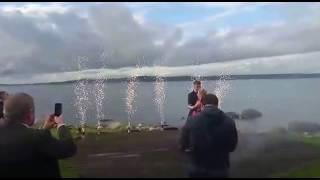 Пиротехника на свадьбе: фонтаны для первого танца