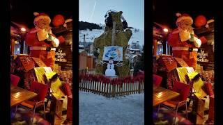 FRENCH ALPS by Night VLOG | Christmas in FRANCE | Raclette. FIREWORKS