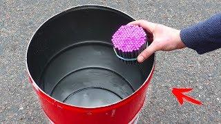 EXPERIMENT: FIRECRACKERS INSIDE AN EMPTY BARREL
