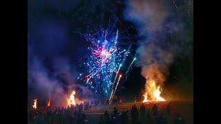 World's Coolest Bonfires and Fireworks Christmas Eve on the Levee in Gramercy, Louisiana