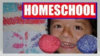 Messy Homeschool Project Coloring Rice | American Flag & Fireworks | 4th of July