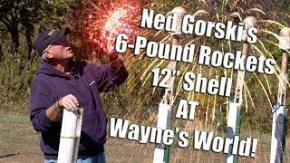 """Massive 6-pound Fireworks Rockets and HUGE 12"""" Shell from Ned Gorski at Wayne's World"""