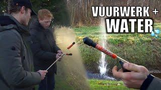 VUURWERK AFSTEKEN IN HET WATER!
