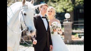 Живой единорог на красивой свадьбе