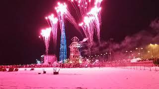 Огненно-пиротехническое шоу, фейерверк (Масленица 01.03.20) Парк 300-летия Санкт-Петербурга